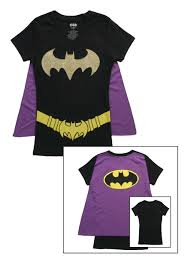 T Shirt Halloween Costumes by Womens Batgirl Cape T Shirt Halloween Costumes