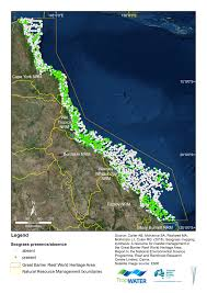 Great Barrier Reef Map Map Of Seagrass Distribution In Gbrwha Eatlas