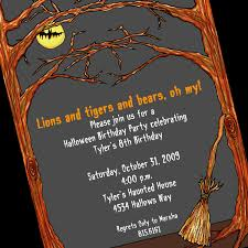 free halloween party flyer when to mail birthday party invitations image collections
