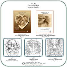 Wood Burning Patterns For Beginners Free by Ceremonial Mask Pyrography E Project Bundle U2013 Classic Carving Patterns