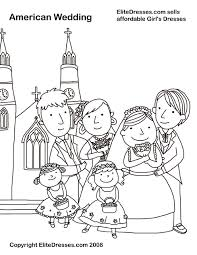 wedding coloring pages free printable