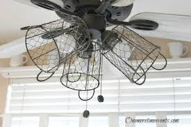 Ceiling Fan For Kitchen With Lights How I Gave My Ceiling Fan A Farmhouse Style Hometalk