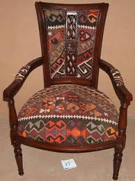 Affordable Upholstered Chairs Recycled Kilim Rug Upholstered Chair Apt Pinterest Aztec