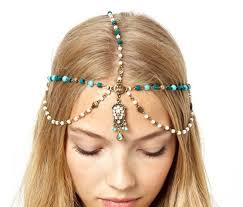 boho headband boho style imitation turquoise pearl girl headband wholesale
