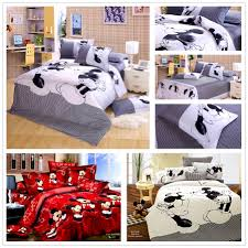 Minnie Mouse Bedspread Set Bedroom Licious Mickey Mouse Kids Print Bedding Set Bedclothes
