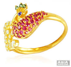 beautiful golden rings images Beautiful peacock 22k gold ring ajri59067 22k gold ring jpg