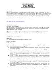 T Sql Resume Annie Lostlen Resume
