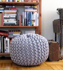extra extra large knit pouf footrest home decor mary marie