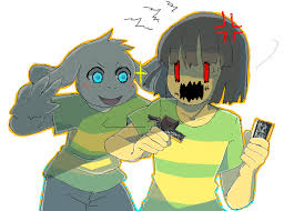 imagenes negras graciosas undertale chara asriel chocolate battle undertale pinterest