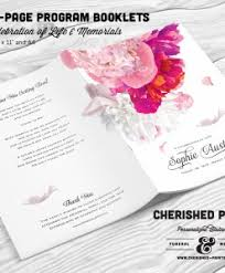 beautiful funeral programs multi page booklet program designs from cherished prints
