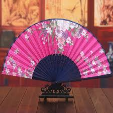 silk fans 10pcs lot handmade arts crafts folding bamboo silk fans flower