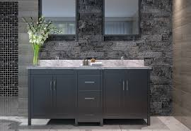 bathroom black bathroom vanity set with brown ceramic floor and