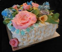 moms 84th birthday cake square basket weave cake lemon cake