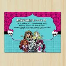 printable monster high birthday invitations name tags stationary
