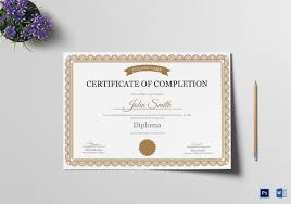 examples of certificates of completion certificate of completion template 31 free word pdf psd eps