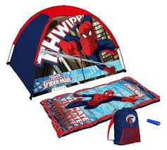 amazon com marvel ultimate spider man tent and sleeping bag 4