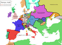 River Map Of Europe by Map Of Thirty Years War At The End Of The War In 1648 Viking