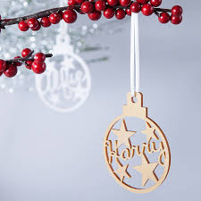 personalised star christmas bauble decoration by clouds and