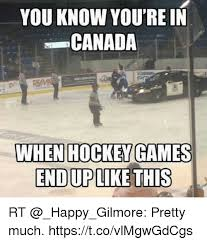 Canada Hockey Meme - you know you re in canada when hockey games enduplike this rt
