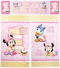 baby minnie mouse 1st birthday amscan disney baby minnie mouse 1st birthday