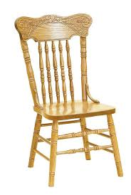 Oak Spindle Back Dining Chairs Pressed Back Oak Dining Chair