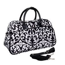 womens travel bags images Teens and women 39 s overnight weekend or gym 21 quot duffle bag jpg