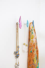 diy agate stone wall hooks lovely indeed diy agate wall hooks