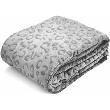 Cheetah Print Blanket Your Zone Leopard Throw Grey Cheetah Walmart Com