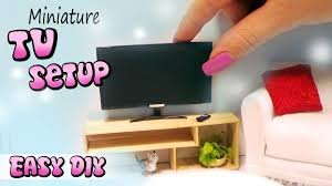 How To Make Dolls House Furniture Easy Miniature Doll Tv Remote U0026 Stand Tutorial Diy Dollhouse