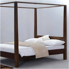 Wood Canopy Bed Rustic Philadelphia Solid Wood Canopy Bed