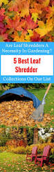5 best leaf shredder collections on our list are leaf shredders a