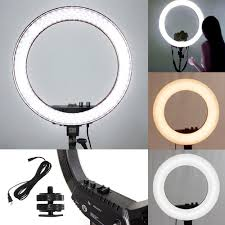 circle light for video 18 led photography ring light dimmable 5500k lighting photo video