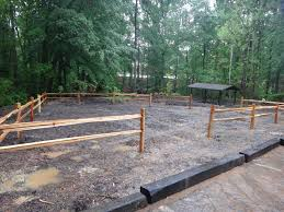 landscape timber fence home u0026 gardens geek