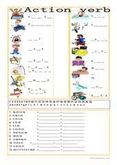 pictionary on actions ana esl worksheets ใหม