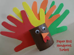get crafty paper roll handprint turkey the adventures of j