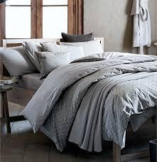mid century modern bedding geo print duvet quilt cover set light