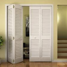 Closet Doors Louvered Closet Door Bi Fold Bay Plantation Louver Louver White