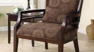 Wooden Arm Chairs Living Room Awesome Wood Beige Traditional Accent Chair Regarding Frame
