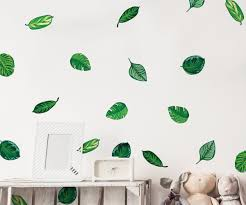 Wallpaper Decal Theme Tropical Plant Leaves Wall Decal Hawaiian Party Beach Theme Decor Gr