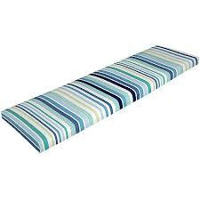 picnic table seat cushions mainstays breton bench cushion blue str walmart com