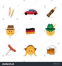 German Flag Emoji Set German Emoticon Vector Isolated On Stock Vector 440909287