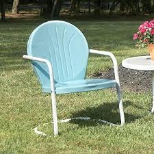 metal patio chairs 7 piece metal outdoor dining set furniture