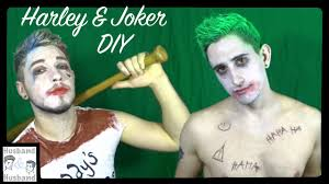 diy male harley quinn and joker cosplay squad youtube