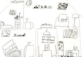 Interior House Drawing Art For Small Hands Drawing Inside A Dwelling
