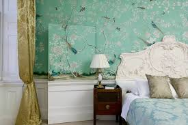 chinoiserie bedroom bedroom traditional with handpainted wallpaper
