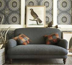 Two Seater Sofa Living Room Ideas Traditional Living Rooms Two Seater Harris Tweed Sofa Tartans