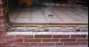 Patio Door Sill Patio Door Bottom Sill Brick Concrete Block Building