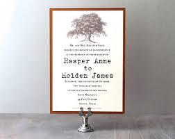 Tree Wedding Invitations Oak Tree Wedding Invitations Etsy