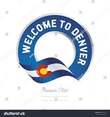 Flag Of Denver Welcome Denver Colorado Flag Logo Icon Stock Vector 668871718