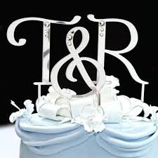 monogram wedding cake topper s monogram wedding cake toppers topper with swarovski crystals